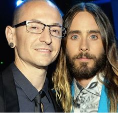 Chester and Jared Leto Chester Bennington, Charles Bennington, 30 Sec To Mars, Thirty Seconds To Mars, 30 Seconds, Good Charlotte, Asking Alexandria, Linkin Park, My Chemical Romance