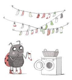 Beautiful, cute illustration by Ina Hattenhauer