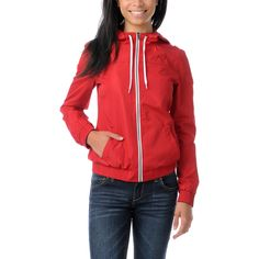 Red Windbreaker Jacket. A must have for travelers!