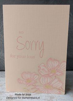 STAMPINBACK: Twee condoleancekaarten