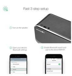 BlitzWolf? BW-F4 2000mAh 10W*2 Outdoor Hands-free AUX Wireless Bluetooth 4.0 Speaker With Mic