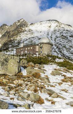 Tatranska Lomnica, Slovakia - December 26, 2015:  Observatorium Skalnate pleso (Skalnate Pleso Observatory) is an astronomical observatory in Slovakia.