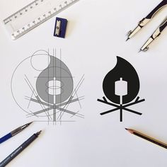 Campfire logo by cfowlerdesign Logo Desing, Best Logo Design, Web Design, Icon Design, Branding Design, Logo Branding, Graphic Design Layouts, Graphic Design Illustration, Learning Logo