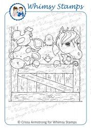 *NEW The Gang's All Here   Whimsey stamps   $8.00