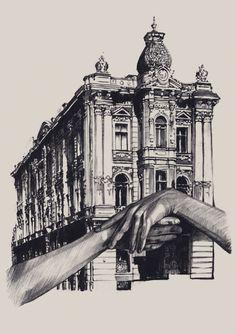Architecture Drawing Artists impresionantes bocetos de arquitectura   arte   pinterest