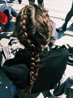 VSCO - laurennbuckley - Images # Braids for sports lacrosse # Braids for sports lacrosse Athletic Hairstyles, Sporty Hairstyles, Braided Bun Hairstyles, Pretty Hairstyles, Braided Hairstyles, Braided Buns, Messy Buns, Updo Hairstyle, Prom Hairstyles