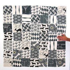 DIY Fabric Squares Black and White by skinnylaminx on Etsy