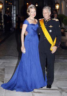 Felipe y Matilde de Bélgica en la cena previa a la boda real de Guillermo de Luxemburgo #royals #royalty #belgium #prince #princess