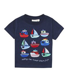 Another great find on #zulily! Navy 'Sailing the Ocean Blue' Tee - Infant, Toddler & Boys by JoJo Maman Bébé #zulilyfinds
