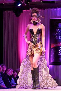 2012 Paper Fashion Show Denver Chalk Art Festival, Paper Fashion, Prom Dresses, Formal Dresses, Fashion Show, Fashion Design, Rainbow Colors, Things That Bounce, Pop Culture