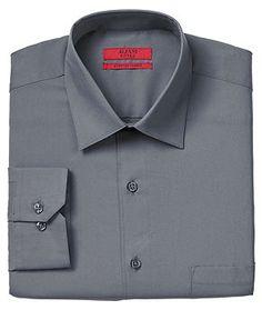 Alfani RED Dress Shirt, Fitted Coal Solid Stretch - Mens Shirts - Macy's