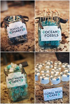 Nico and LaLa: It& a Jaw-some Shark Party! Birthday Themes For Boys, 10th Birthday Parties, Birthday Party Themes, Boy Birthday, Birthday Ideas, Shark Party Foods, Party Snacks, Disney Themed Food, Shark Party Decorations