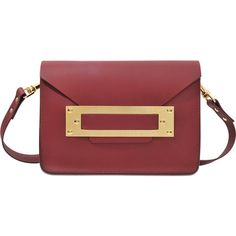 Sophie Hulme Mini Envelope clutch ($465) ❤ liked on Polyvore featuring bags, handbags, clutches, red, pocket purse, mini handbags, sophie hulme handbags, red handbags and envelope clutch bag