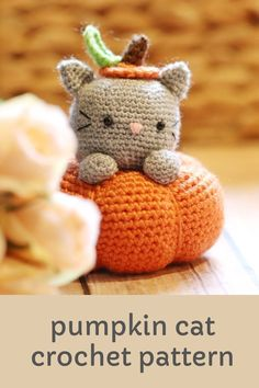 Make your very own cute pumpkin cat for Halloween! Get started with amigurumi with this crochet pattern for spooky season. Create your own cute kitten in a pumpkin with this easy and unique crochet pattern. Cute and kawaii, this basic and beginner friendly DIY project is perfect for any crocheter that loves fall and halloween. This stuffed animal amigurumi is perfect for home decor. Great project for the holidays! Stuffed animal plushie that can be made quickly. Crochet Patterns For Beginners, Easy Crochet Patterns, Unique Crochet, Free Crochet, Halloween Crochet Patterns, Cute Candy, Cute Pumpkin, Amigurumi Toys, Candy Corn