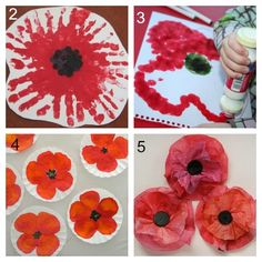 11 simple Poppy Crafts for Kids - Laughing Kids Learn - - 11 Simple Poppy Crafts for Kids to make for Remembrance Day that can be done at home or in the classroom. Suitable for children toddler age and beyond. Poppy Craft For Kids, Crafts For Kids To Make, Art For Kids, Toddler Art, Toddler Crafts, Preschool Crafts, Remembrance Day Activities, Remembrance Day Poppy, Flores Van Gogh