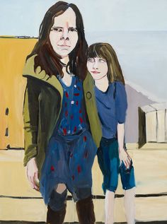 Chantal Joffe, Self-Portrait with Esme in St Leonards, Oil on board, Courtesy the artist and Victoria Miro Gallery, ©Chantal Joffe Chantal Joffe, Portraits, Portrait Paintings, Portrait Ideas, Encaustic Painting, Arts And Crafts Projects, Linocut Prints, Famous Artists, Figurative Art
