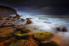 Stormy beach in Sydney, Australia