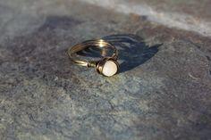 Peach Quartz WireWrapped Ring for Positive by SlatedInSpirit