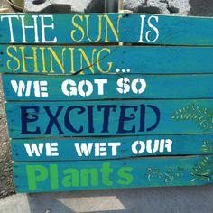 Fun garden sign