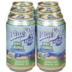 Blue sky, soda 6pk free jamaican gn, 72 fo, (pack of 4)  Blue Sky Herbal Jamaican Ginger Ale 12 Oz (Pack of 4) (Note: This Product Description Is Informational Only. Always Check The Actual Product Label In Your Possession For The Most Accurate Ingredient Information Before Use. For Any Health Or Dietary Related Matter Always Consult Your Doctor Before Use.)
