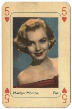 A biography of screen legend Marilyn Monroe accompanied by images of Marilyn Monroe Movie Cards and Movie Collectibles. Vintage Playing Cards, Vintage Cards, Marilyn Monroe Art, Candle In The Wind, Norma Jeane, Classic Movies, Old Hollywood, Hollywood Icons, Steve Mcqueen