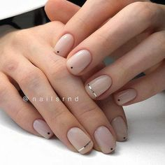 Today we have 41 of the most amazing nails you have ever witnessed! All of these nails will literally blow your mind! Well, hopefully not literally but figuratively, these nails will drive you insane! Gelish Nails, Nude Nails, Acrylic Nails, Hair And Nails, My Nails, Nagellack Trends, Minimalist Nails, Gel Nail Designs, Natural Nail Designs