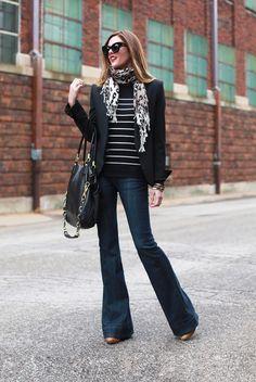 Shades: Karen Walker 'Northern Lights' Scarf: Target Sweater: Target Blazer: Theyskens' Theory Jeans: Earnest Sewn 'Lau Flare' (older style)...