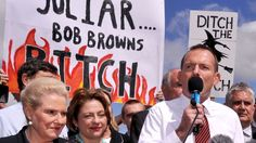 A balanced political campaign; yes, this happened in Australia!