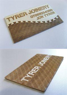 Wooden Business Card