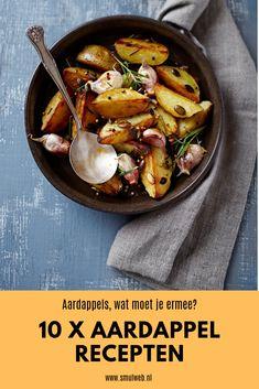 Potato Salad, Hummus Dip, Menu, Potatoes, Baking, Ethnic Recipes, Winter, Food, Menu Board Design