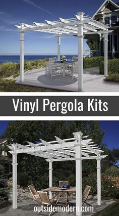 The New England Arbors Venetian Pergola Kit is very similar to the Malibu Pergola Kit mentioned above but does not include the shade canopy. Should you desire to run some vines, roses, grapes, etc. along the pergola, you may not want a shade kit. In this case, the Venetian is a great option. The footprint is similar, at 10′ x 10′, and is enough to accommodate most patio sets, hot tubs, and outdoor furniture sets. Assembly is fairly simple, and the materials are completely maintenance and ..... Vinyl Pergola, Pergola Kits, New England Arbors, Shade Canopy, Outdoor Shade, Buyers Guide, Outdoor Furniture Sets, Patio Sets, Shades