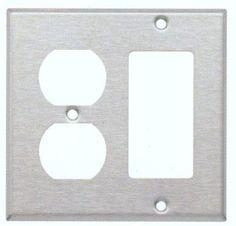 Two Gang / GFCI and Duplex Metal Wall Plates in Stainless (Set of 4)