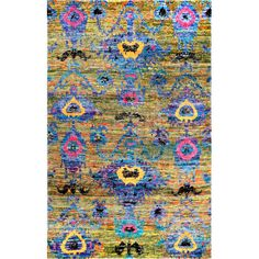 Lisha Hand Knotted Multi Area Rug | Wayfair