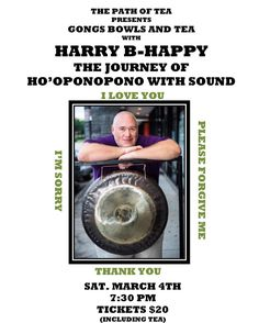 Harry B-Happy's next Gong and Bowl Show is March 4th! If you haven't experienced this we highly recommend making plans to attend. Saturday March 4th at 7:30pm. Tickets $20 (includes tea). At The Path of Tea 2340 West Alabama St Houston TX 77098. Please arrive early out of respect for all patrons there will be no late seating. . . . . . #tea #thepathoftea #pathoftea #gongs #bowls #tea #harrybhappy #harryb #gongandbowlshow #journey #event #show #teatime #gong #houston