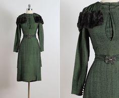 Palace Gallia . vintage 1930s dress . vintage by millstreetvintage