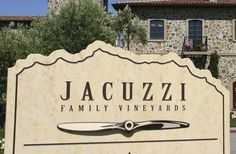 Jacuzzi Vineyards Sign Detail