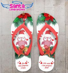 Chinelo Natal Coruja Personalizado COD 3166