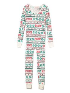 baac44772c Amazon.com  Victoria s Secret Thermal Long Jane One Piece Pajama Onesie