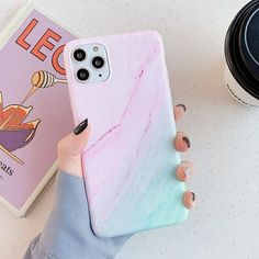 Vintage Marble Color Case - Pink / iPhone 12 Pro Max