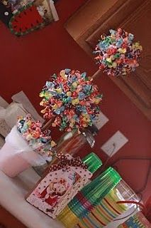 candy topiary Candyland so sweet! Birthday Candy, Birthday Parties, Birthday Ideas, 3rd Birthday, Grad Parties, Friend Birthday, Birthday Quotes, Birthday Gifts, Sucker Tree