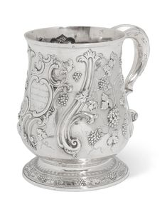 A GEORGE III SILVER LARGE TANKARD, MARK OF SAMUEL COURTAULD, LONDON, 1764 | Christie's Gold Box, The Collector, Grape Vines, Antique Silver, Product Launch, London, Art, Art Background, Vineyard Vines