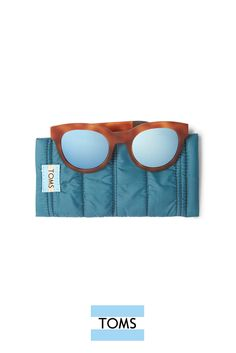 Light, durable and vintage inspired. TRAVELER by TOMS Florentin Matte Honey Tortoise oversized sunglasses have mirrored lenses. Complete with a sleeping bag case, they make a great stocking stuffer!