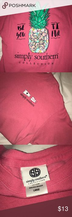 Simply Southern T-Shirt Only worn a couple times, like new. Short sleeve shirt. Simply Southern Tops Tees - Short Sleeve