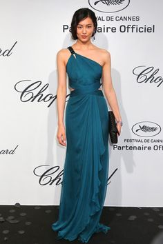 Cannes Film Festival 2012 - Liu Wen in Roberto Cavalli at the Chopard Mystery party.