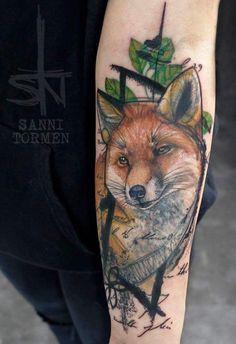 Sanni Tormen fox tattoo