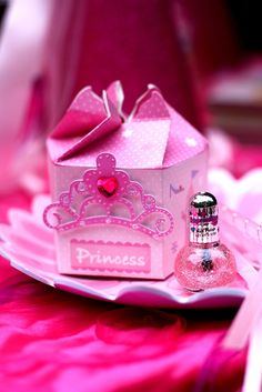 Princess Party Favors - Makeup Kit Each sweet little princess enjoyed their very own pink princess punch, makeup kit, and tiara cupcake!