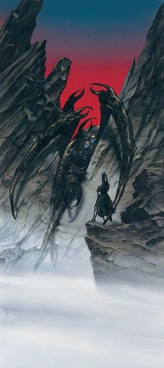 John Howe :: Illustrator Portfolio :: Home / The Painting of Middle-Earth / Melkor Calls Forth Ungoliantë Jrr Tolkien, Tolkien Books, High Fantasy, Fantasy World, Legolas, Gandalf, Das Silmarillion, Midle Earth, History Of Middle Earth