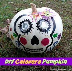 DIY Calavera Pumpkin