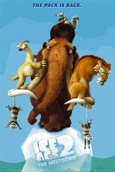 ICE AGE 2 - THE MELTDOWN Manny, Sid and Diego may have made it through the big freeze, but when the ice begins to melt, the heroic trio must warn the other inhabitants of their peaceful valley of the coming flood. Ice Age Movies, Fox Movies, Cartoon Movies, Disney Movies, Watch Movies, Animated Movie Posters, Blue Sky Studios, Dreamworks Movies, I Love Cinema