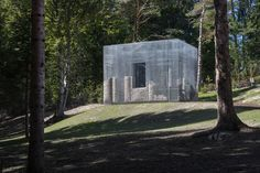 Artist Edoardo Tresoldi has partially filled the walls of Simbiosi – a ghostly wire-mesh sculpture on a hillside at Arte Sella museum in Italy – with rocks. Monumental Architecture, Spiritual Dimensions, Kengo Kuma, Wire Mesh, Italian Artist, Opera, Gallery, Artwork, Nanning